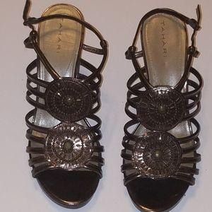 Tahari wedge 9M women's shoe, bronze